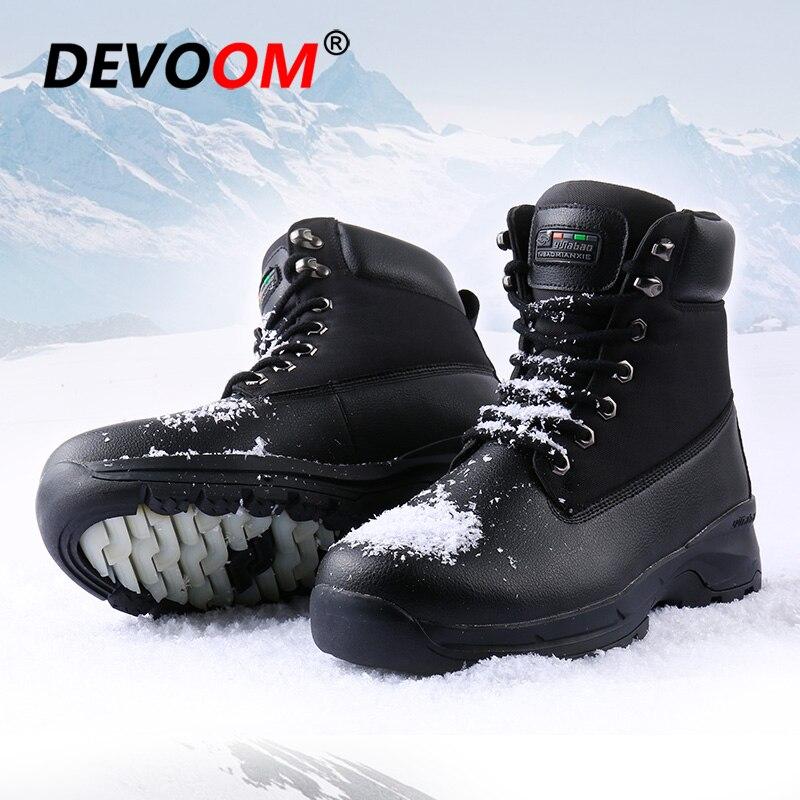 Hombre Dos À Água slip Neve D' Não brown Chegada Calçados Pele Homens With Fur Botas 2018 Fur Sapatos Militares Da Prova Nova Moda Black De Inverno q6xRA