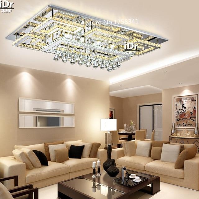 Europa rvs led plafondlamp woonkamer lamp creatieve restaurant ...