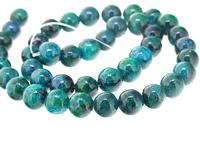 Unique Pearls jewellery Store Blue Green Jasper 10mm Round Gemstone Loose Beads 15'' Full One Strand LC3 249