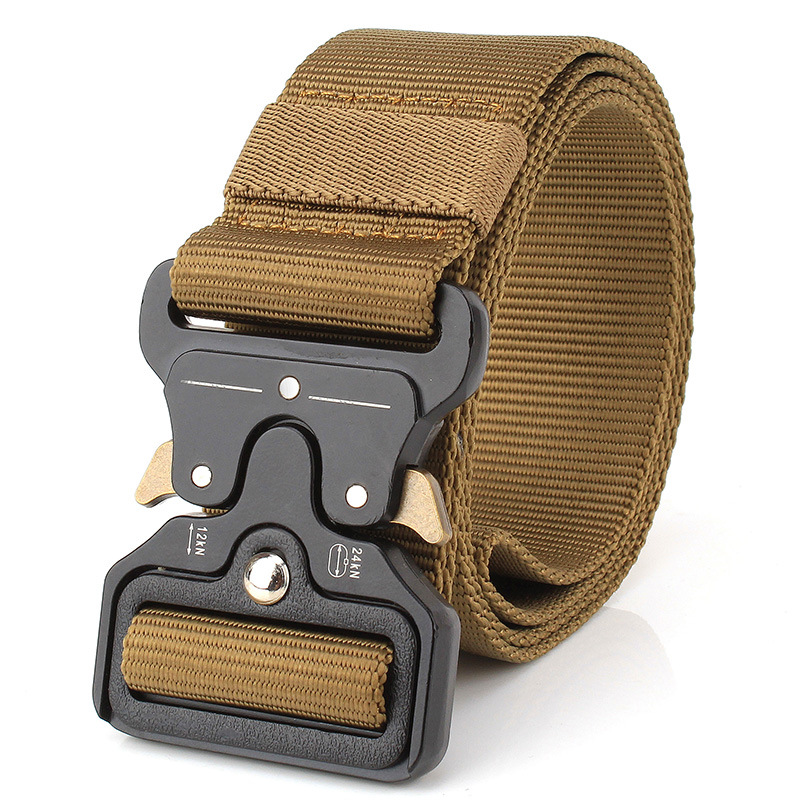 2017 Men Canvas Military Tactical Belt Strap With Metal Buckle Waistband for Men Ceinture Homme Men