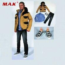1/6 scale action figure doll Accessories Men's Clothing Jacket&Jeans&Plaid Shirt set for 12