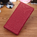 European and American Rose Flower Genuine Leather  Knitting Style Wallet Large Capacity Practical Women  Wallet