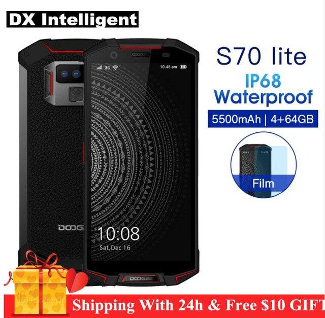 """DOOGEE S70 Lite 4G Game SmartPhone IP68 IP69K Waterproof 5.99"""" FHD 18:9 Screen Helio P23 Mt6763 Octa Core 4GB+64GB 13MP Dual Cam"""