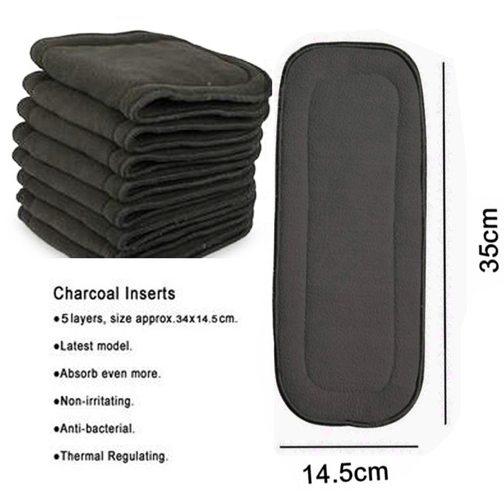Горячие продажи(100 шт./лот) поглощение пять слоев бамбуковые подгузники вставки вкладышей