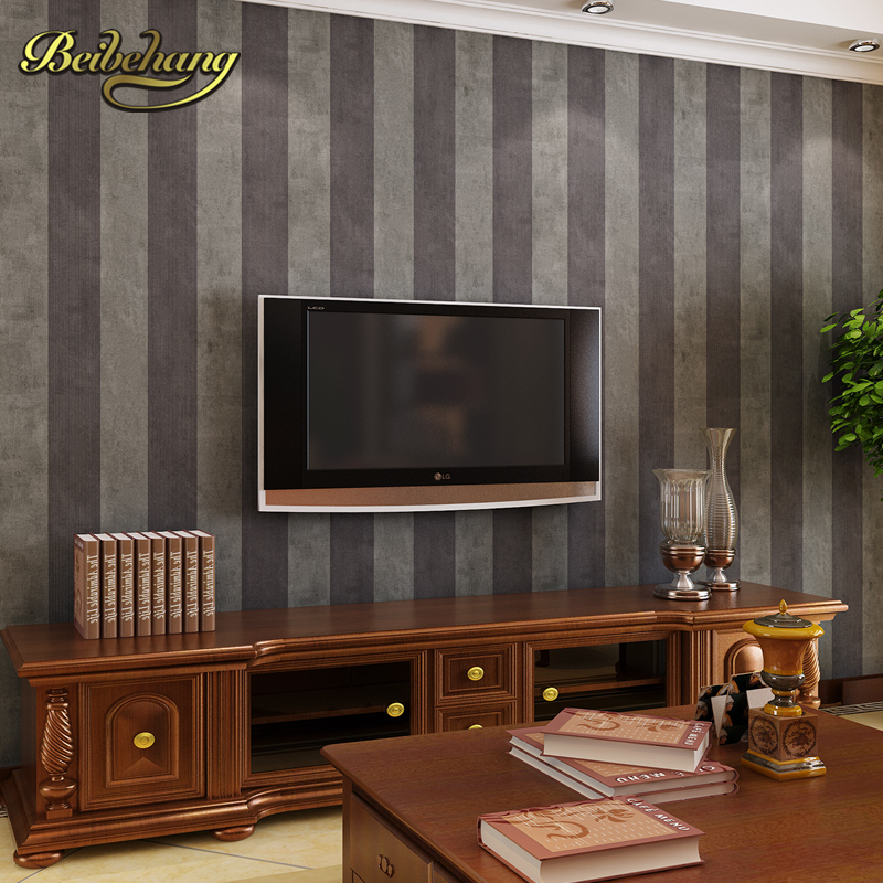 beibehang Wide horizontal vertical stripes roll imitation non-woven wallpaper for living room  papel parede wall paper for walls beibehang shop for living room bedroom mediterranean wallpaper stripes wallpaper minimalist vertical stripes flocked wallpaper