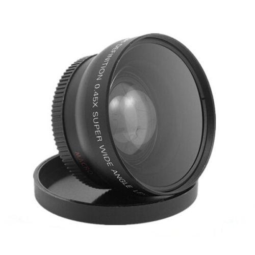 Universale 0.45x72mm Wide Angle + Lente di Conversione Macro 0.43x72 Per CANON NIKON PENTAX DSLR Camera