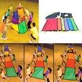 107X73 cm Rainbow Malabares Paraguas Paño Niños Indooor Herramienta de Formación Deporte Al Aire Libre para Los Niños Los Niños de Cooperación En Desarrollo