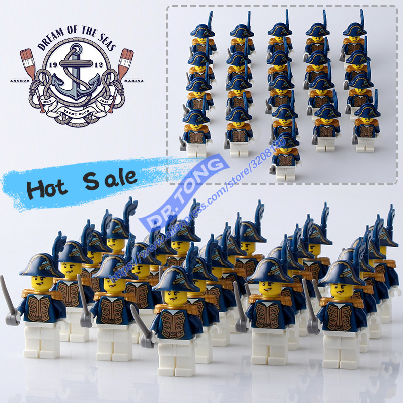 Image 5 - DR.TONG 21PCS/LOT Pirates of the Caribbean BritainRoyal Navy Figures Building Blocks Brick Toys-in Blocks from Toys & Hobbies