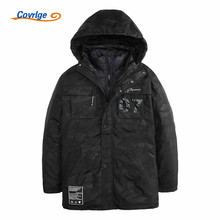 Covrlge Two Piece Set Men Parka 2017 New Fashion Overcoat Men's Winter Jacket Thick Padded Hooded Parkas Winter Coat MWM015