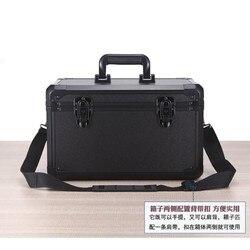 370x220x210mm Aluminium legierung werkzeug box Tragbare koffer Datei box instrument box Auswirkungen beständig sicherheit fall lagerung Fall
