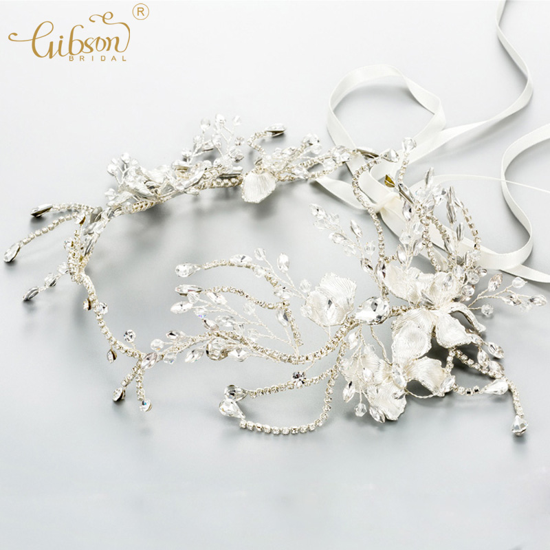 Handmade Delicate Crystal Bridal Hair Band Marquise Stones Rhinestone Chain Wedding Hair Vine Chic Boho Tiara Headband