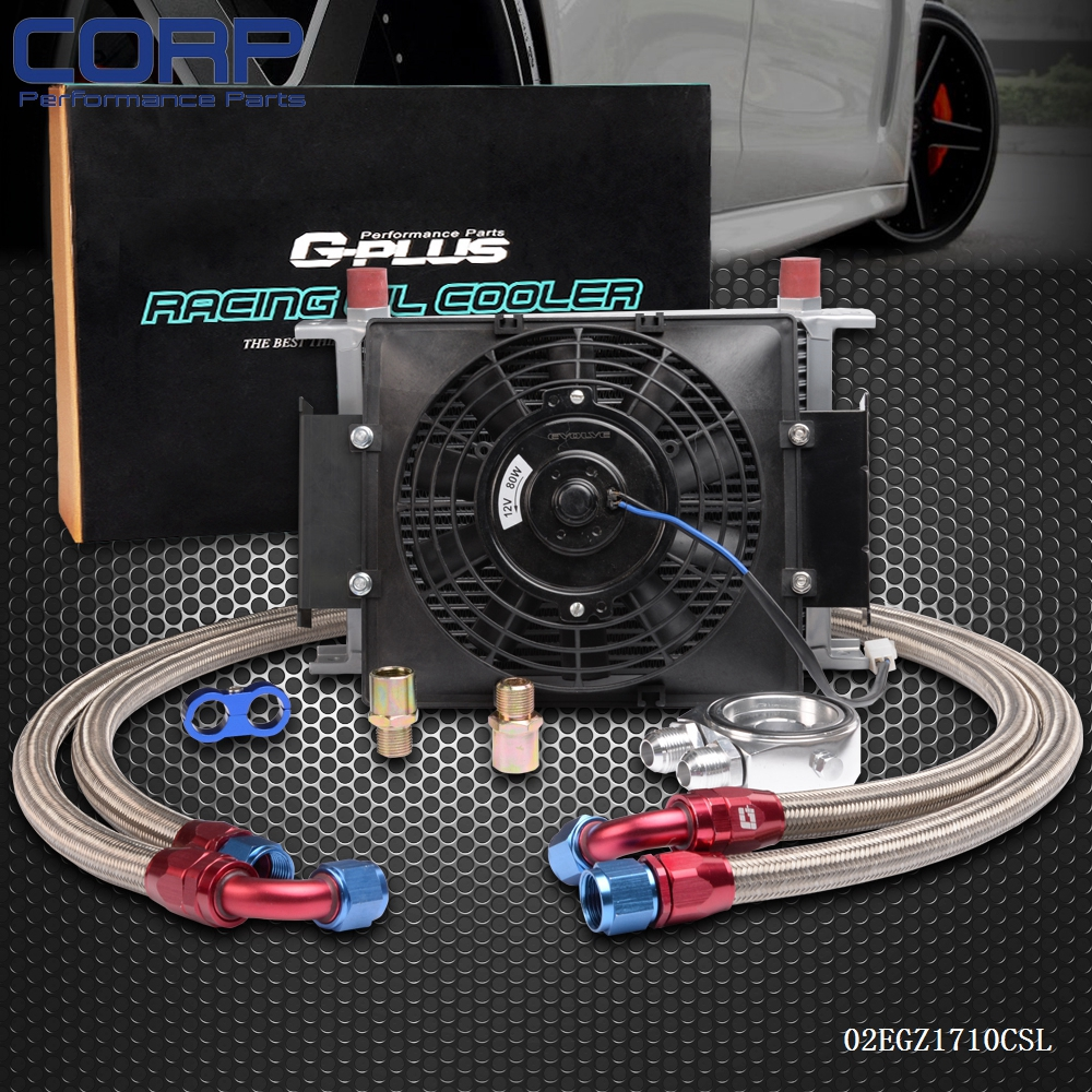 Universal 25 Row AN-10 Engine Transmission Oil Cooler+7 12V Electric Fan Kit видеоигра бука saints row iv re elected