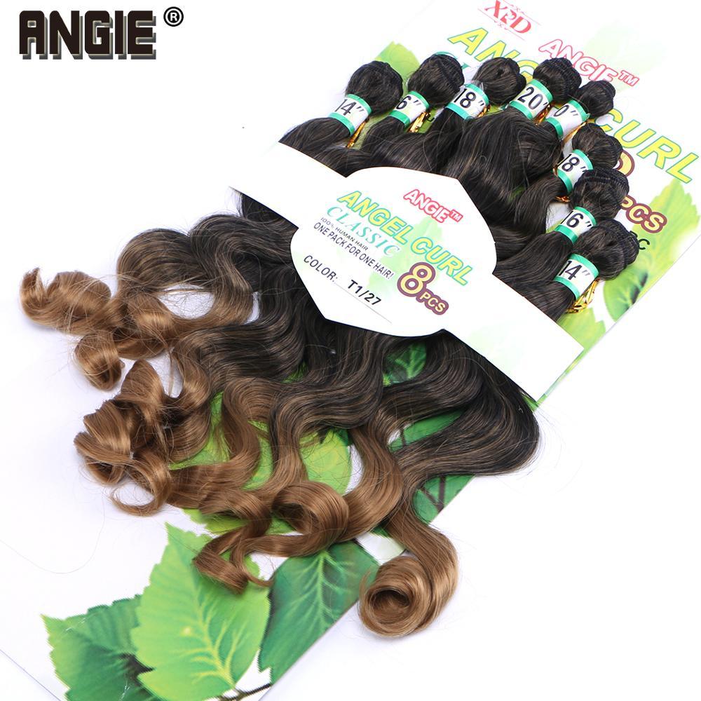 sintético 8 peças lote pacotes de cabelo