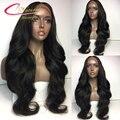 7А Толщиной Человеческого Волоса Полные Парики Шнурка Плотности 180% Сырья Индийские реми Волос Glueless Кружева Передние Парики С Волосами Младенца Для Черных женщины