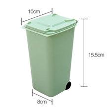 Dustbin Storage Bin Wheelie Trash Can Dust School Pencil Cup 10*8*15.5cm 4 Color Sturdy Durable Waste Bins Container