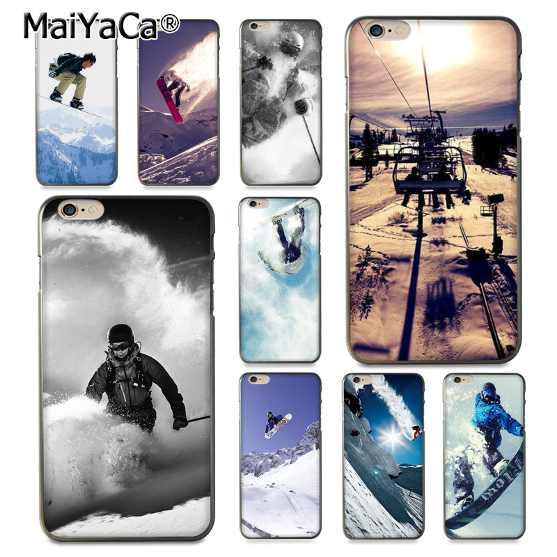 Snow Die Ski Snowboard Sport Coque Shell Phone Case for iphone 12 11 Pro 8 7 6 6S Plus X 5 5S SE Cover XS XR XSMAX