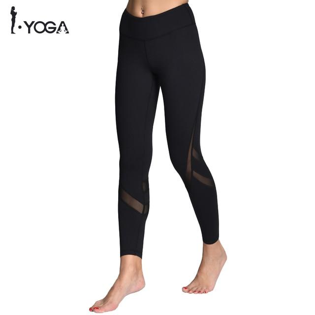 Ropa Deportiva malla Yoga pantalones Fitness Yoga leggins Push Up Running  Sport Tights mujer entrenamiento Yoga 0bdf5fd39658