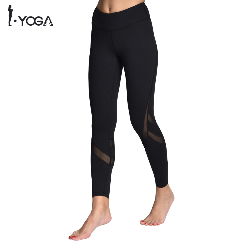 Sportswear Mesh Yoga Pants Fitness Yoga Leggings Push Up Running Sport Tights Women Workout Yoga Clothing Activewear for Women