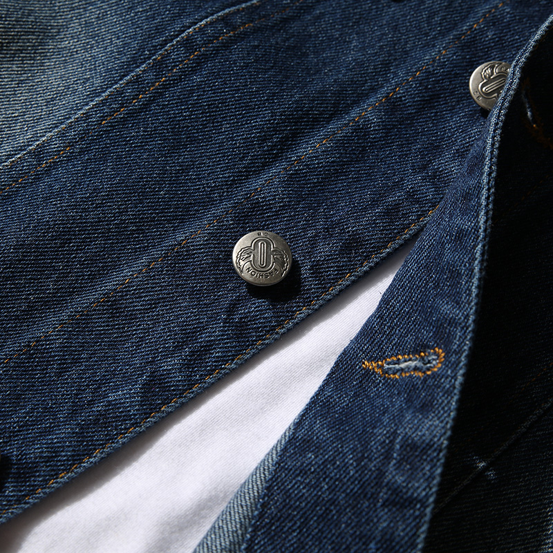 2018 New Blue Mens Denim Jackets Large Size S M L 5XL Fashion Teen Slim Casual Men Long-sleeved Coats Pocket Button Decoration
