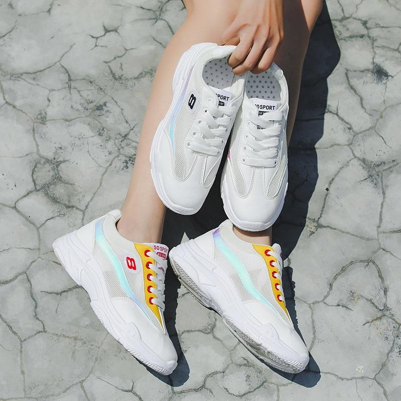 Women Shose 2018 Summer women flat shose platform sneakers brogue lace up heels flat shoes women leather flats casual