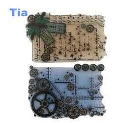 14 18cm craft tool transparent stamp vintage time wheel clear stamps sheet seal for diy scrapbooking.jpg 250x250