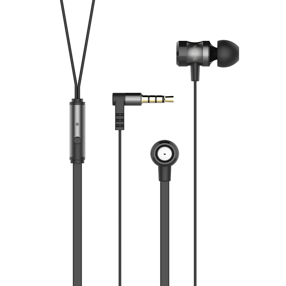 SikkiS Metal Headphones with Mic Remote Earphones Noise Isolating Stereo Bass Sound E10
