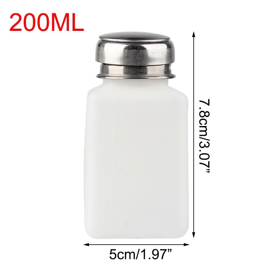 200ml Refillable Bottles Acrylic Gel Polish Remover Cleaner Liquid Container Storage Nail Art Mini Pump Dispenser Empty Bottles