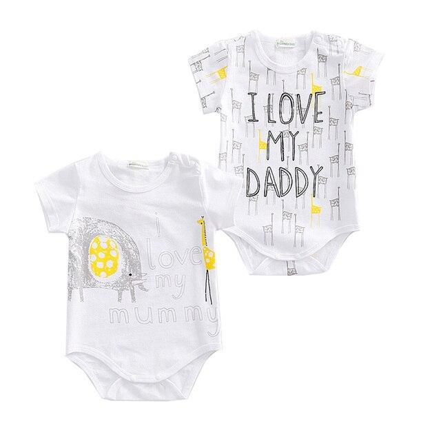 0cc11c64b01a Baby Boy Bodysuits Newborn Baby Girl Clothes I Love Mummy   Daddy ...