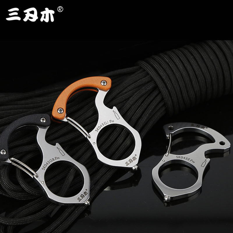 Sanrenmu SK045 Multi Tools Multi-functional  Key Chain Ring Buckle Outdoor Camping Survival Keychain Rescue Glass Breaker Tools