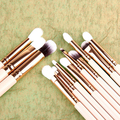 12Pcs Foundation Powder Eyeshadow Eyeliner Wooden Handle Wool Makeup Brush Set