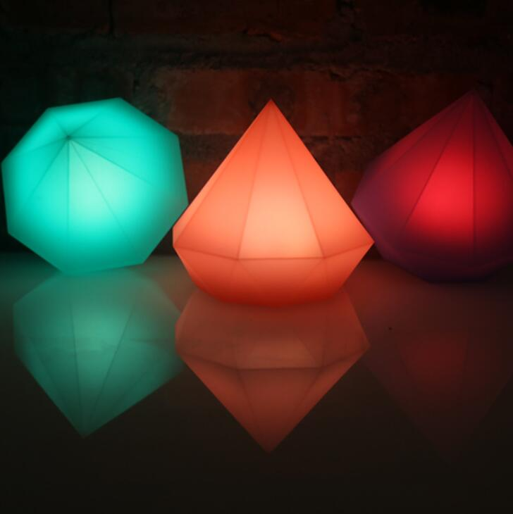 Colorful diamond shaped night lamp creative Bedroom Table LampColorful diamond shaped night lamp creative Bedroom Table Lamp