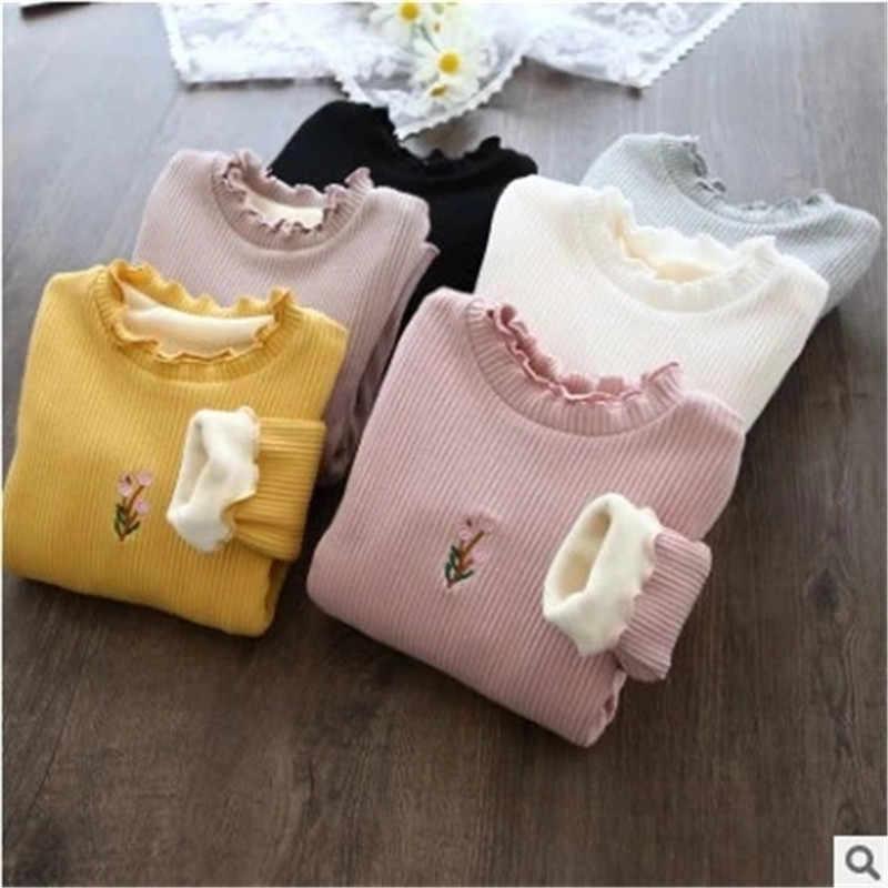 ベルベット女の赤ちゃんスモール純粋で新鮮で子供レンダリング子レース Tシャツ裏地上部の衣服の子供服冬