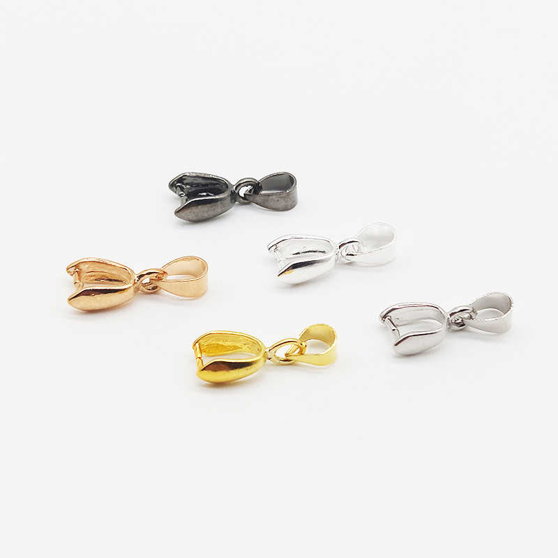 5 Colors 10pcs/pack Pendant Clip Clasp Pinch Clip Bail Pendant Connectors Bail Beads Jewelry Findings DIY Jewelry Accessories