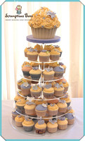 Hot selling free shopping/6 Tier Clear Acrylic Cupcake And Cake Tower Display Stand Round Party Acrylic Cake Showcase Show Stand