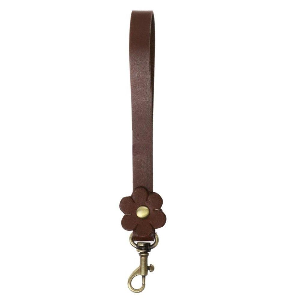 Bag Handles 17cm Genuine Cow Leather Shoulder Bags Belt DIY Replacement Handbag Flower Strap Bag Parts Accessories Decoration