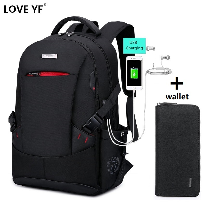 Men's Backpack Oxford Cloth Bag Business Laptop Bag Multifunction Large Capacity Male Travel Bag Youth College Backpack