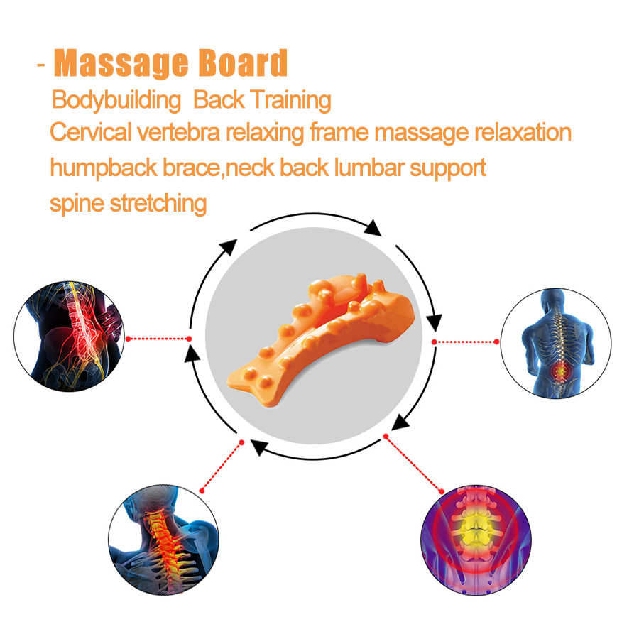 waist spine relax back massage board brace back stretching device correct cervical vertebra lumbar traction posture  [ 900 x 900 Pixel ]