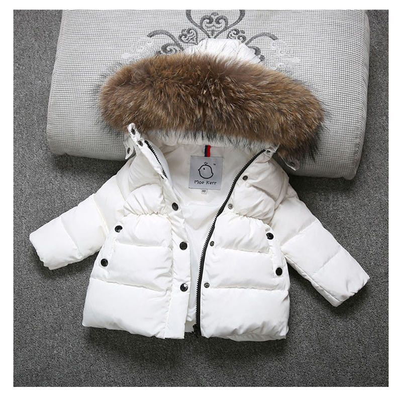 High Quality 2017 Winter Child Boy Down Jacket Parka Big Girl Rich Fur Warm Coat 3 4 5 7 9 Year Kids Hooded Outerwears fit -30