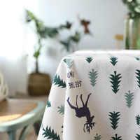 Nappe De noël arbre De noël et cerf lin et coton nappe fraîche nouveau Style coréen Toalha De Mesa