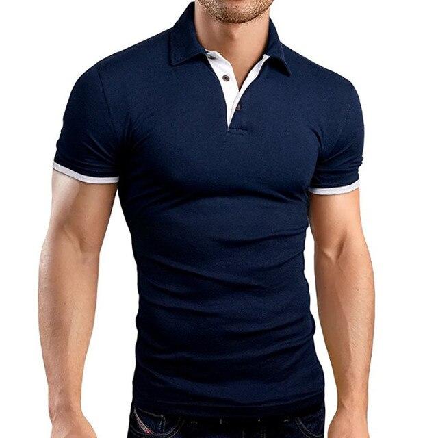 dce388ffe85fa Polo marca de ropa hombre moda Casual hombres Polo ocasional sólido Tops  alta calidad Slim Fit
