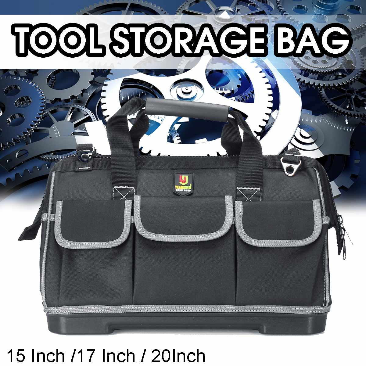 15/17/20 Inch Tool Bag Oxford Multi-pocket Waterproof Large Capacity Bag For Tools Hardware Storage Bag Electrician Toolbag Case
