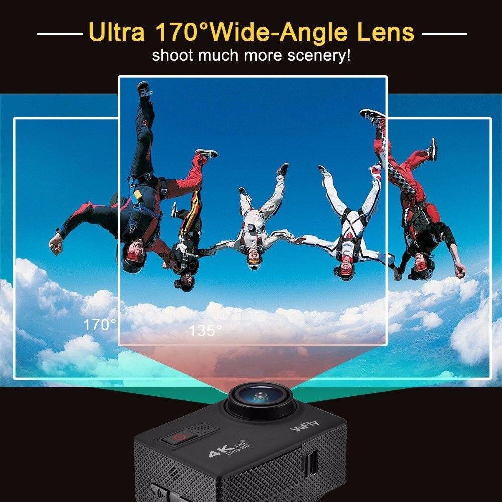 VeFly 4 k Ultra HD sport actie camera, de waterdichte Wifi go pro cam met Anti Shake elektronische GYRO wifi auto video kamera - 4