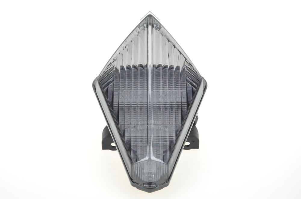 Светодиодный Встроенный задний фонарь сигнала поворота для YAMAHA R1 07-08 - Цвет: Темно-серый