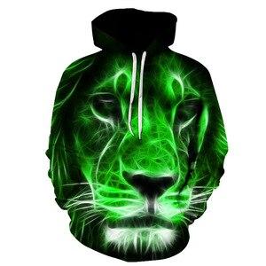 Image 3 - 2019 tier druck mit kapuze Sweatshirts Lila grün gelb Lion kopf 3D Hoodie Weiblich Männlich Herbst Pullover Xxxtentacion Trainingsanzug