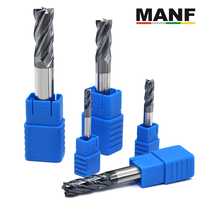 MANF tungsten carbide end Milling Cutter HRC50 4flute 4mm 5mm 6mm 8mm 12mm Alloy Carbide Steel Mill cutting CNC machine tool(China)