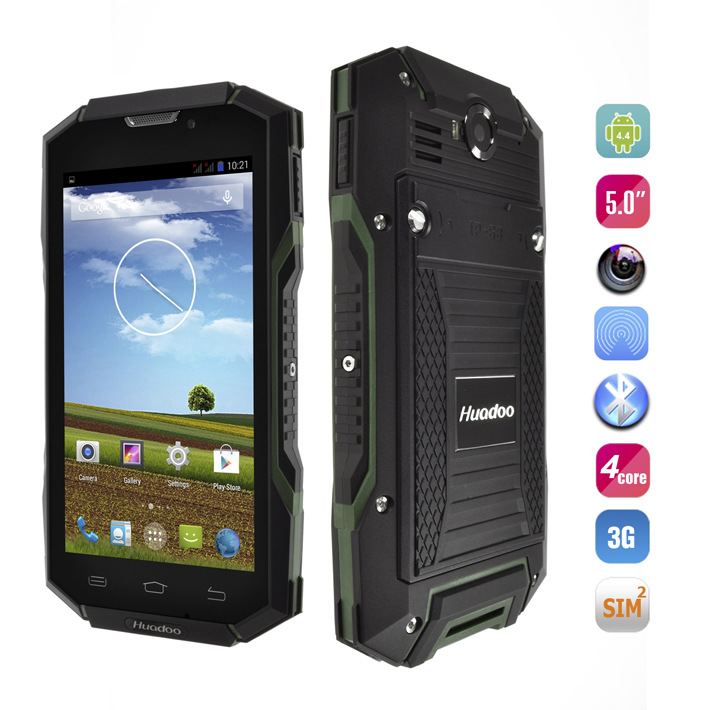Original Huadoo V4 MTK6582 Quad Core IP68 Rugged Waterproof Mobile Phone Android 4 4 5 0