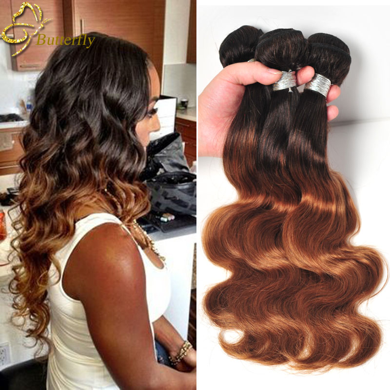 Rosa Beauty Hair Ombre Brazilian Hair Body Wave T1b 27 30