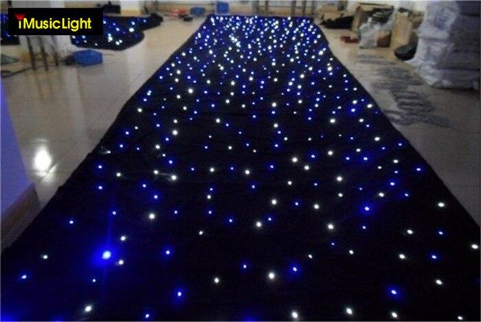 2mx11m Blue White Led Stage Drape Star Cloth Curtain