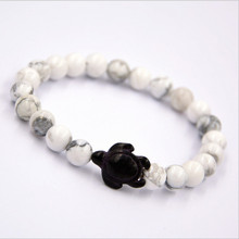 Hand Crafted Sea Stone Turtle Stone Bracelet