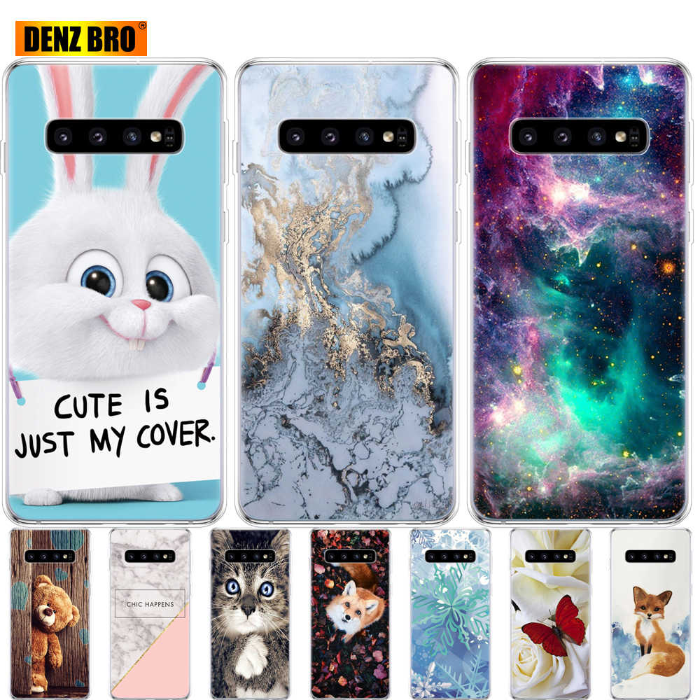 Coque For Samsung Galaxy S10 Case S10Plus Silicone soft TPU Cover Phone S10 E Case On For Samsung S10 Plus G975F S 10 SM-G973F
